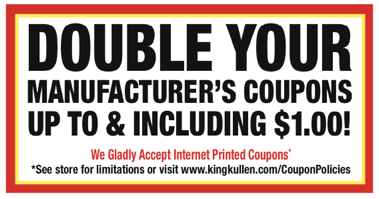 Double Your Coupons at King Kullen